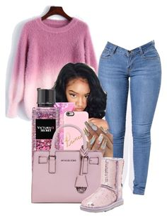 """Lavender Blush"" by melaninprincess-16 ❤ liked on Polyvore featuring Poetic Justice, Victoria's Secret, Casetify, MICHAEL Michael Kors and UGG Australia"