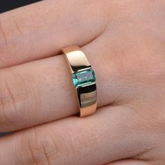 yellow gold emerald engagement ring wide band width men wedding band,bridal promise ring,anniversary fine jewelry,reco craft,handmade - Wedding World