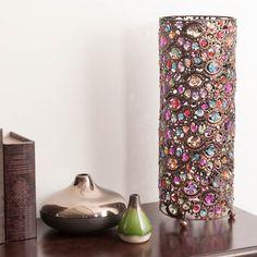 Lampe en métal et plexiglas multicolore H 48 cm MILLE ET UNE NUITS | Maisons du Monde