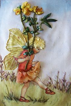 Sheer Inspiration: A. Embroidered Designs » A. Flower Fairies » The Bird's-foot Trefoil Fairy