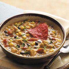 Fiesta Chicken Chowder-a good fall dinner!