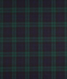 Ralph Lauren Blackwatch Tartan Black Fabric