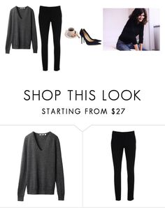 """Untitled #350"" by inlateautumn ❤ liked on Polyvore featuring Uniqlo, Warehouse and Jimmy Choo"