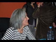 Tatiana d Rosnay, steely gray hair