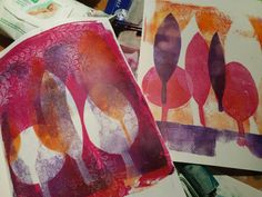 Art by Lucy Brydon : Gelli printing step by step tutorial!