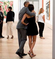 Obama and Malia last year in NYC