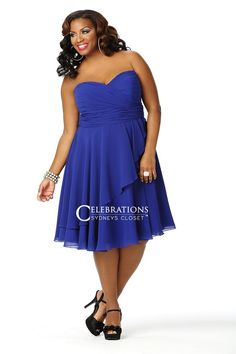 Be bold and beautiful wearing this flirty plus size cocktail dress in this season's must-have color: sapphire blue. The flowing chiffon skirt on our Jillian party dress makes a fashion statement that is flirty and fun.  FREE SHIPPING Use Code: CELEBRATE
