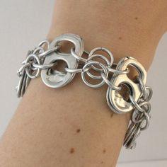 pop tab bracelet  pop tabs linked  with european 4 in1