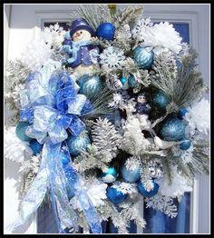 Natale pupazzo di neve vacanza inverno corona porta decorazione ora sulla spedizione anche libera vendita negli USA on Etsy, 129,43 €