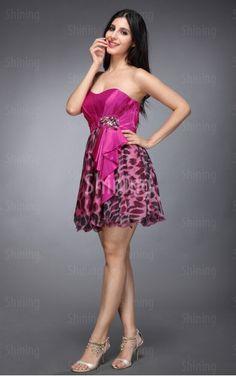 Multi Colours A-line Short Sweetheart Dress