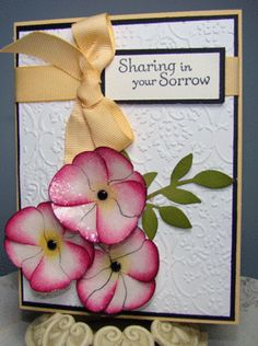 pansies card using butterfly punch ...