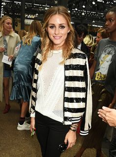 Olivia Palermo attends the Topshop Unique show during London Fashion Week Spring/Summer Collections 2017 at Old Spitalfields Market on September 18...