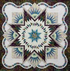 Glacier Star ~Quiltworx.com, made by Certified Instructor Margaret Kamikawa
