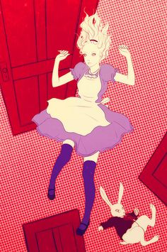 Japanese illustrator Sai Tamiya, Alice in Wonderland.