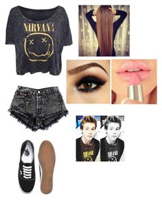 """""""Nirvana"""" by i-love-niall-horan-4457 ❤ liked on Polyvore featuring interior, interiors, interior design, home, home decor, interior decorating and Vans"""
