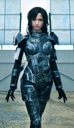 Fem Shepard, Mass Effect, by Angela Bermudez.