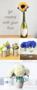 #10. Think outside of the vase! Use everyday containers like coffee mugs and wine bottles for flower arrangements. -- 13 Clever Flower Arrangement Tips & Tricks