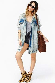 Dirty Talk Denim Jacket. Wouldn't wear anything in the outfit but it.