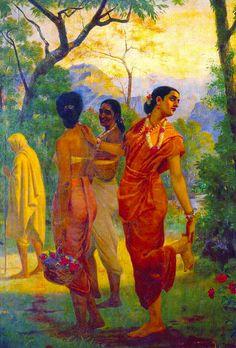 Ravi Varma-Shakuntala columbia - Indian painting - Wikipedia, the free encyclopedia