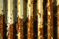 Replicate rust on corrugated metal using paints and sea salt for texture. Rusted Metal, Metal Roof, Metal Walls, How To Rust Galvanized Metal, Galvanized Tin Walls, Metal Projects, Metal Crafts, Art Projects, Metal Tree Wall Art