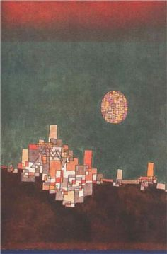 paul klee - chosen site, 1940 [surrealism - late works - cityscape] klee said: ''color possesses me. i don't have to pursue it. it will possess me always, i know it. that is the meaning of this happy hour: color and i are one. i am a painter. Wassily Kandinsky, Paul Klee Art, Art Graphique, Art Plastique, Canvas Art Prints, Modern Art, Abstract Art, Abstract Paintings, Painting Art