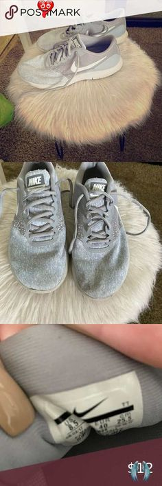 Nike tennis shoes Great and white nuke tennis shoes . Used condition. Nike Shoes Athletic Shoes<br> Nike Tennis Shoes, White Nikes, Athletic Shoes, Nike Women, Adidas Sneakers, Gray Color, Things To Sell, Style, Closet