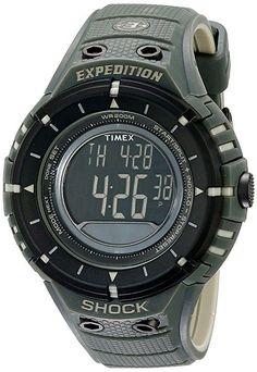 Timex Men's T49612 Expedition Shock Digital Compass Olive/Black Resin Strap Watch best 2018 $69.95