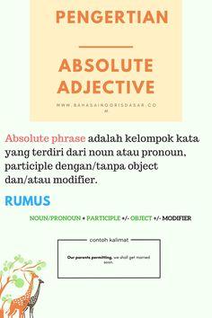 Pengertian Absolute Phrase Bahasa Inggris - Bahasa Inggris Dasar