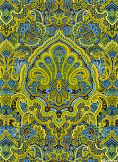 'Autumn Festival'-Lime- collection by Color Principle for Henry Glass & Co.
