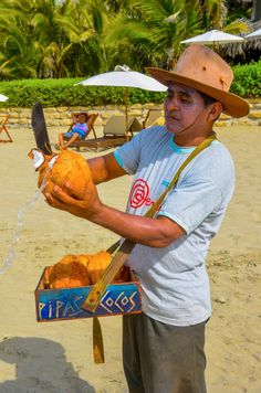 Coconut Man, Mancora beach Peru