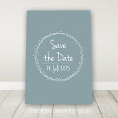 """Save the Date Karte """"Dots"""" Mehr"""