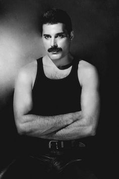 Freddie Mercury. I love how gentle he looks here. I have just the headshot of this one tattooed on my side but in color.