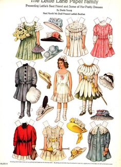 Lettie Lane Early 20th Century Paper Dolls by Sheila Young Full Color 1981 NM MT | eBay