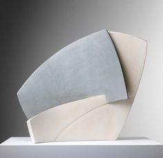 Frances Priest. Shift/Intersect i. Ceramic, slip 45x30x25cms
