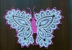 serwetka na szydełku Motyl blog rękodzieło Joanna Gorzel