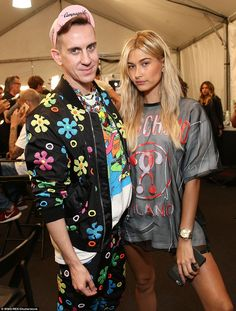 Making a statement  Designer and Moschino creative director Jeremy Scott  was unmissable in a flamboyant 619bd4512d6