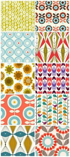 Rachel Cave Prints- I like these fun patterns Pretty Patterns, Beautiful Patterns, Vintage Patterns, Fun Patterns, Boho Pattern, Pattern Art, Graphic Patterns, Textile Patterns, Fabric Design Patterns
