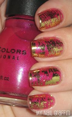 using nail foils to make a 'shatter'