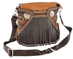 Montana West Concho & Fringe Crossbody Bag - Sheplers