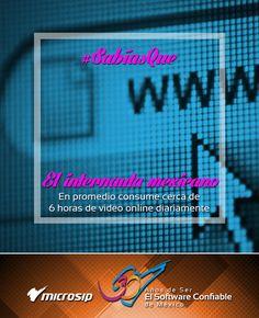 ¿Sabías que el internauta mexicano en promedio consume cerca de 6 horas de video online diariamente?