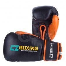 abac7934326 100% Custom Genuine Leather Boxing Gloves Black