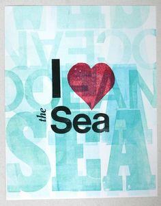 I love the sea, yes I do