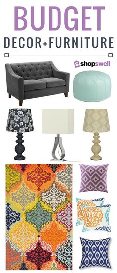 Create a chic, home living space with these affordable decor and furniture picks.