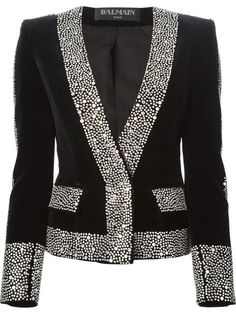 Shop Balmain embellished blazer in Raionul 4 from the world's best independent boutiques at farfetch.com. Shop 300 boutiques at one address.