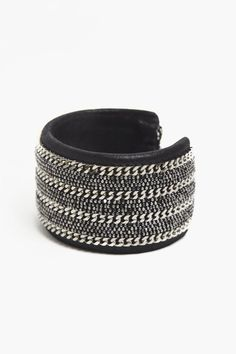 Leather Cuff w/Chains by Marie-Laure Chamorel