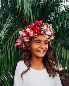 Flower crown for Hawaii Baptism Hawaii Family Photographer, haku // flower crown // hawaii // exotic floral headpiece // https://www.facebook.com/pg/poehaku/photos/?ref=page_internal
