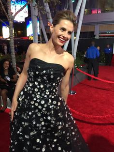 Always a pleasure chatting with @Stana_Katic & looking fabulous as usual. @peopleschoice #redcarpet
