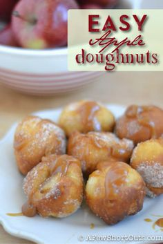 OH MY YUM! Easy Apple Doughnuts Recipe! Ready in 10 minutes!