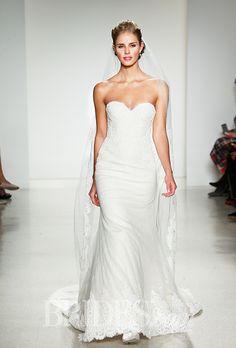 A great strapless wedding dress from @annebargebride   Brides.com