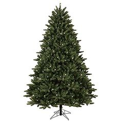 GE 7.5 ft. Pre-Lit LED Just Cut Frasier Fir Artificial Christmas Tree with EZ Light Technology and Warm White LED Lights